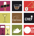 Icons food and drink vector