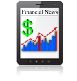 Financial news on tablet pc vector