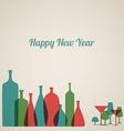 Retro new year card vector