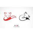 Image of an fox design vector
