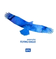 Watercolor flying blue eagle vector