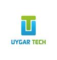 Uygar tech logo work vector