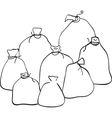 Outline group of sacks vector