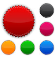 Glossy round award buttons vector