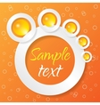 Abstract applique on color background vector
