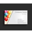 Company business card vector