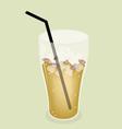 Lemon iced tea background vector