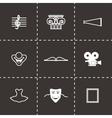 Culture icon set vector