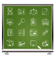 Chalk business icons vector