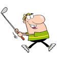 Happy golfer vector