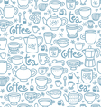Tea and coffee pattern vector