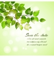 Fresh spring save the date card vector