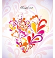 Heart colorful in the shape vector