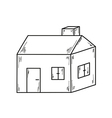 Sketch of the small house vector