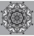Circle grey lace ornament round ornamental vector
