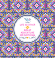 Hipster seamless aztec pattern with geometric elem vector