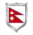 Nepal flag button vector