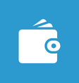 Wallet icon white on the blue background vector
