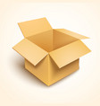 3d open cardboard box vector