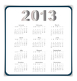 Simple 2013 year calendar eps10 vector