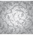Abstract seamless silver floral background vector