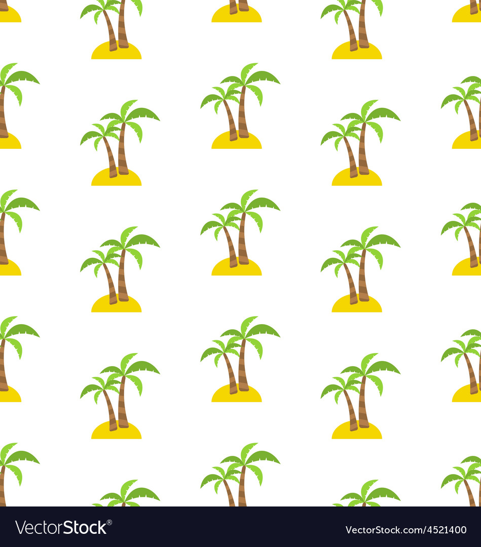 Abstract seamless pattern with tropical palm trees vector | Price: 1 Credit (USD $1)