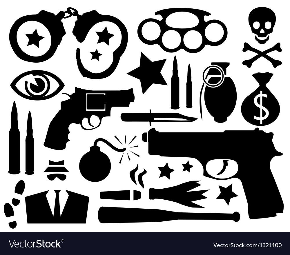 Crime vector | Price: 1 Credit (USD $1)