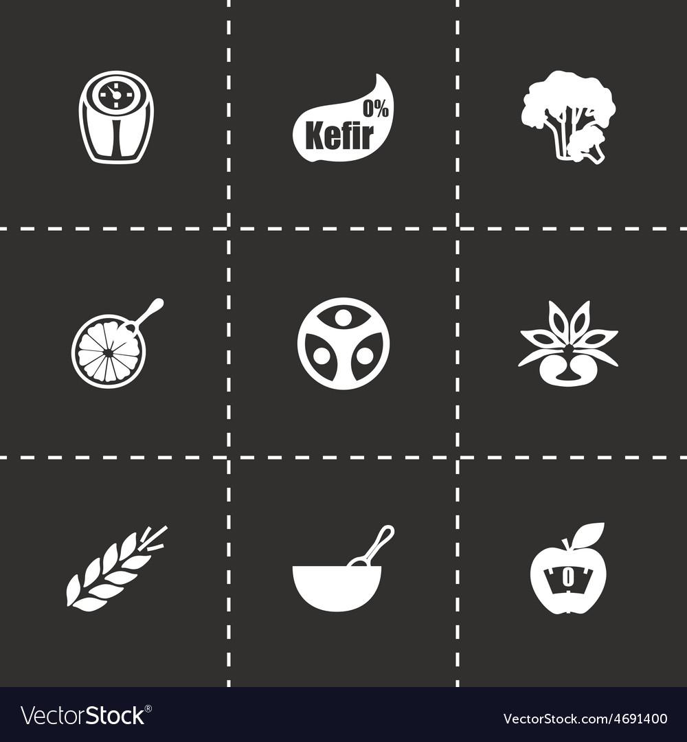 Diet icon set vector | Price: 1 Credit (USD $1)
