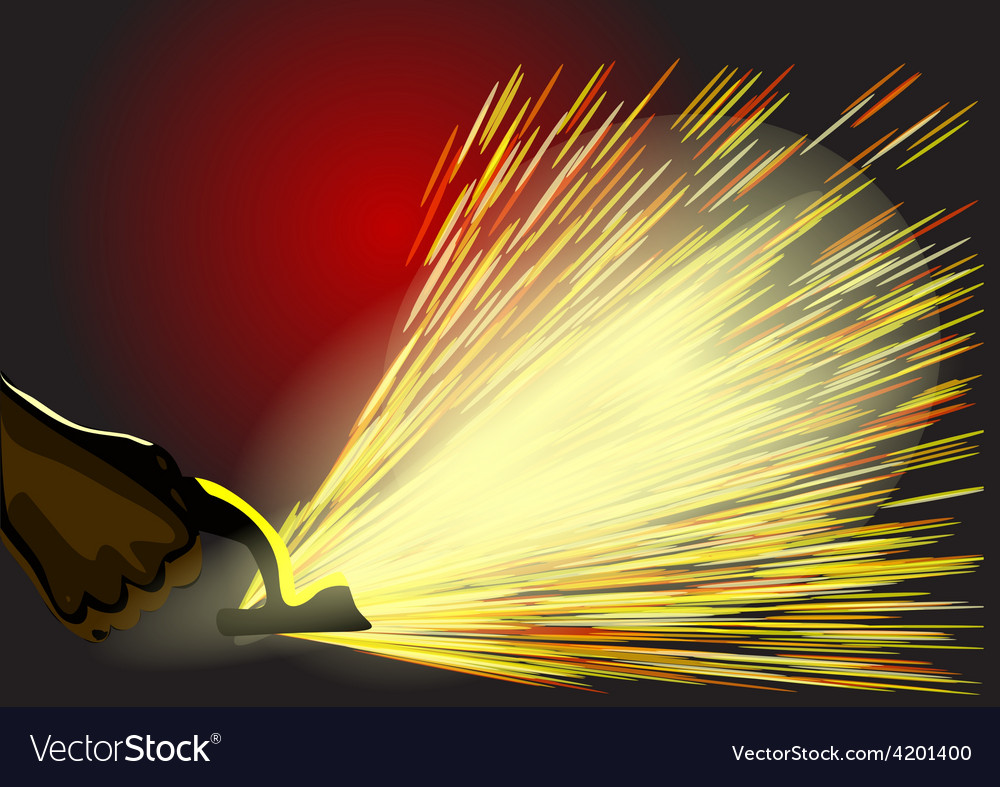 Manufacturing sparks vector | Price: 1 Credit (USD $1)