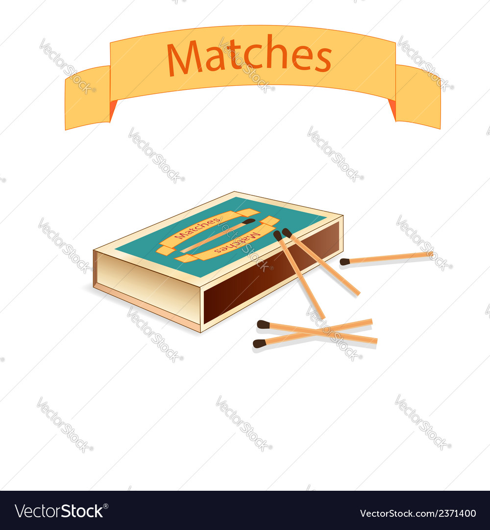 Matchboxes and matches vector | Price: 1 Credit (USD $1)