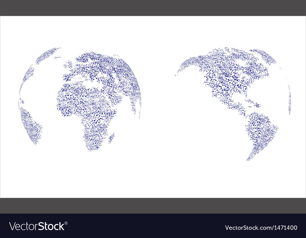 Molecular structure background in globe map vector | Price: 1 Credit (USD $1)