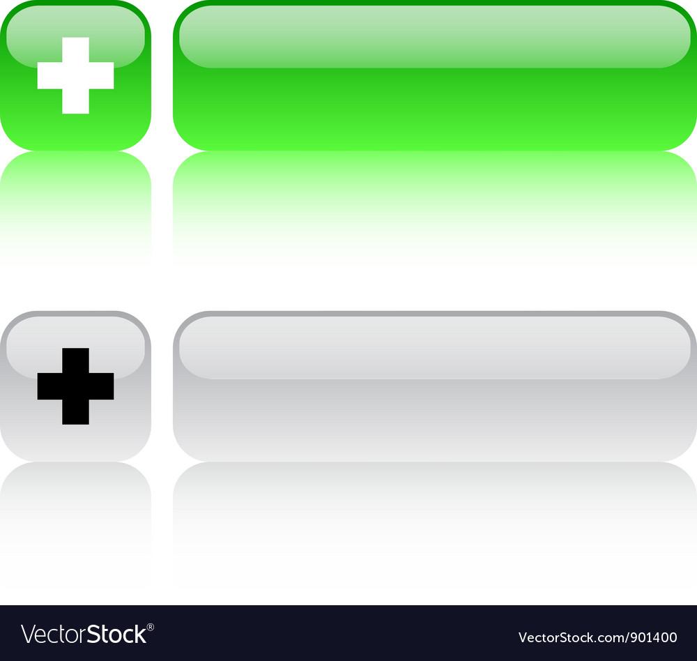 Plus square button vector | Price: 1 Credit (USD $1)