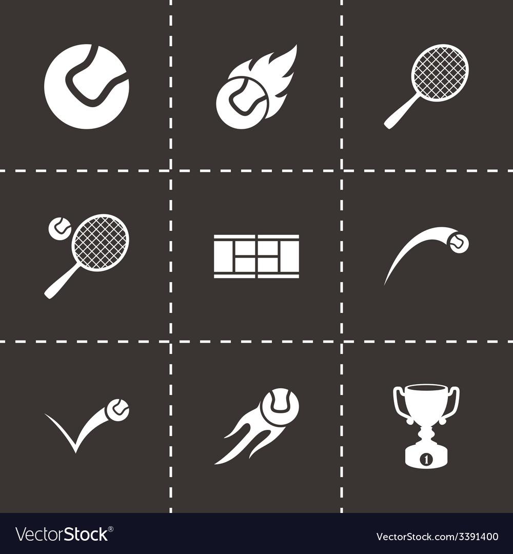 Tennis icon set vector | Price: 1 Credit (USD $1)