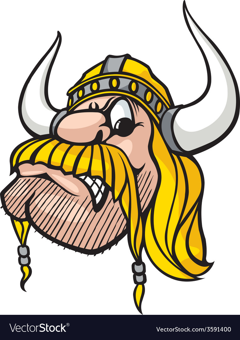 Viking head vector | Price: 1 Credit (USD $1)