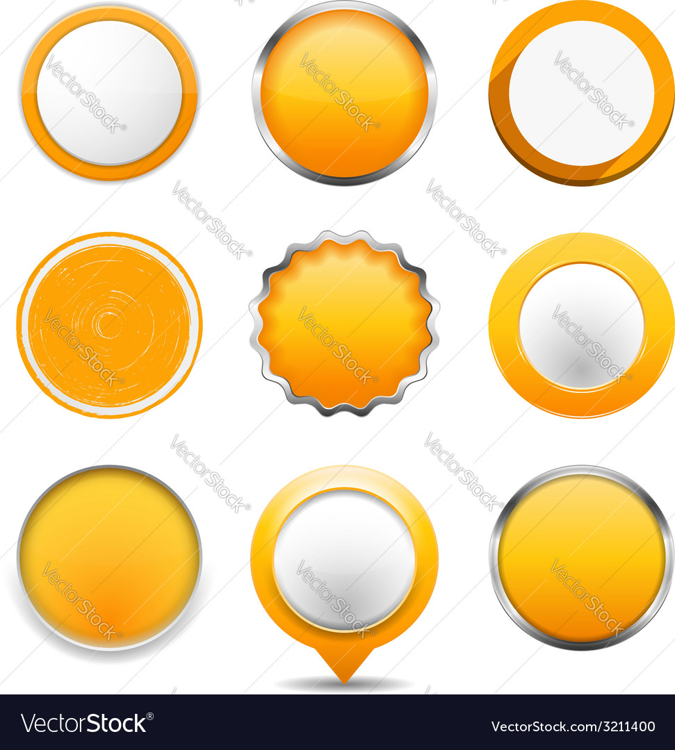Yellow round buttons vector | Price: 1 Credit (USD $1)