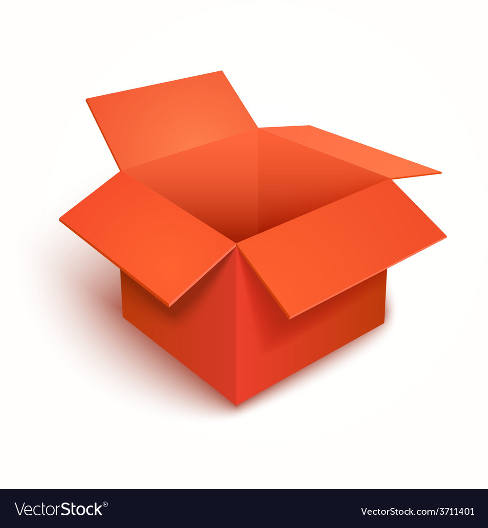 3d open gift red box vector | Price: 1 Credit (USD $1)