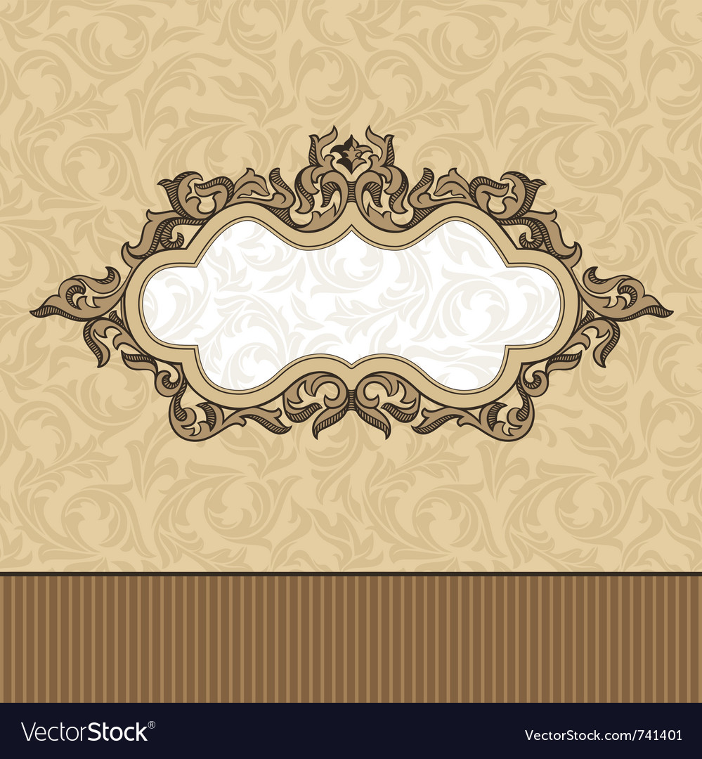Abstract retro vintage floral frame vector | Price: 1 Credit (USD $1)