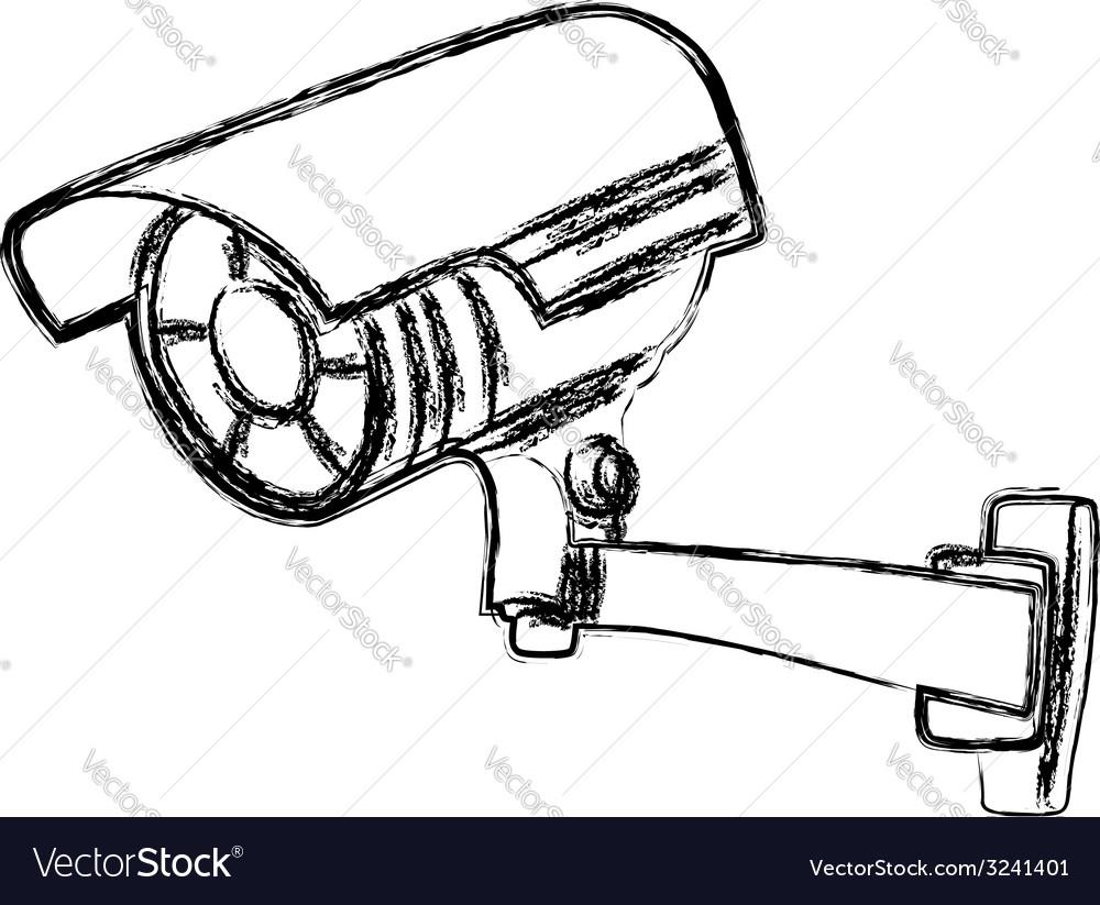 Black and white surveillance camera vector   Price: 1 Credit (USD $1)