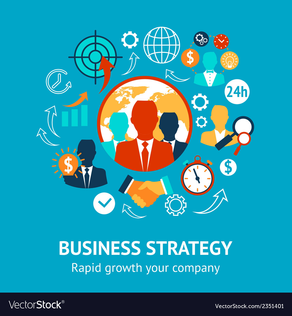 Business and management modern concept vector | Price: 1 Credit (USD $1)