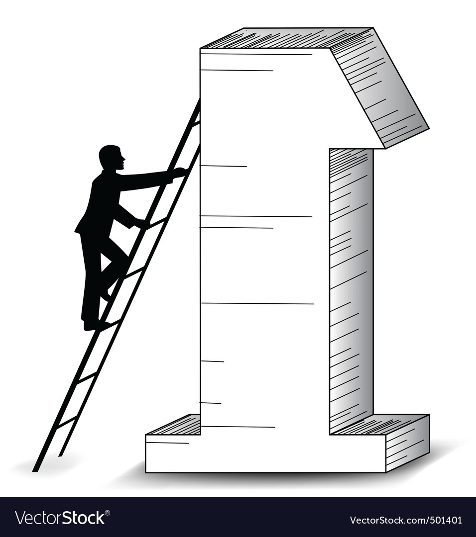 Business success ladder vector | Price: 1 Credit (USD $1)