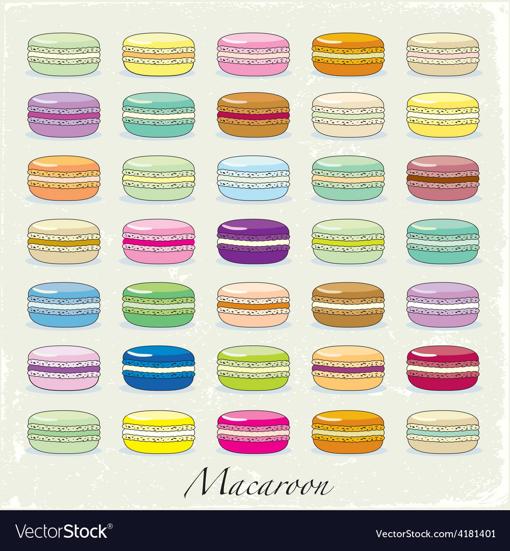 Colorful macaroon set vector | Price: 1 Credit (USD $1)