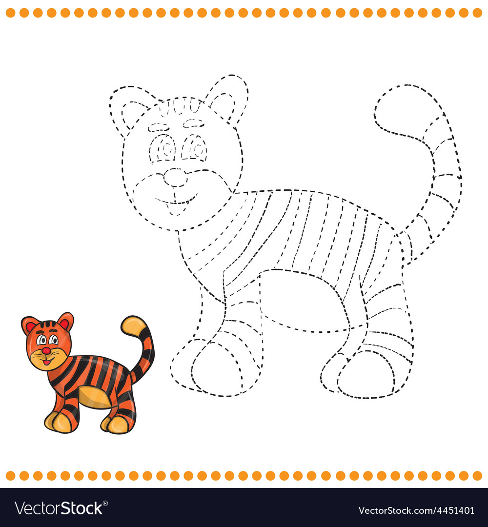 Connect the dots and coloring page vector | Price: 1 Credit (USD $1)