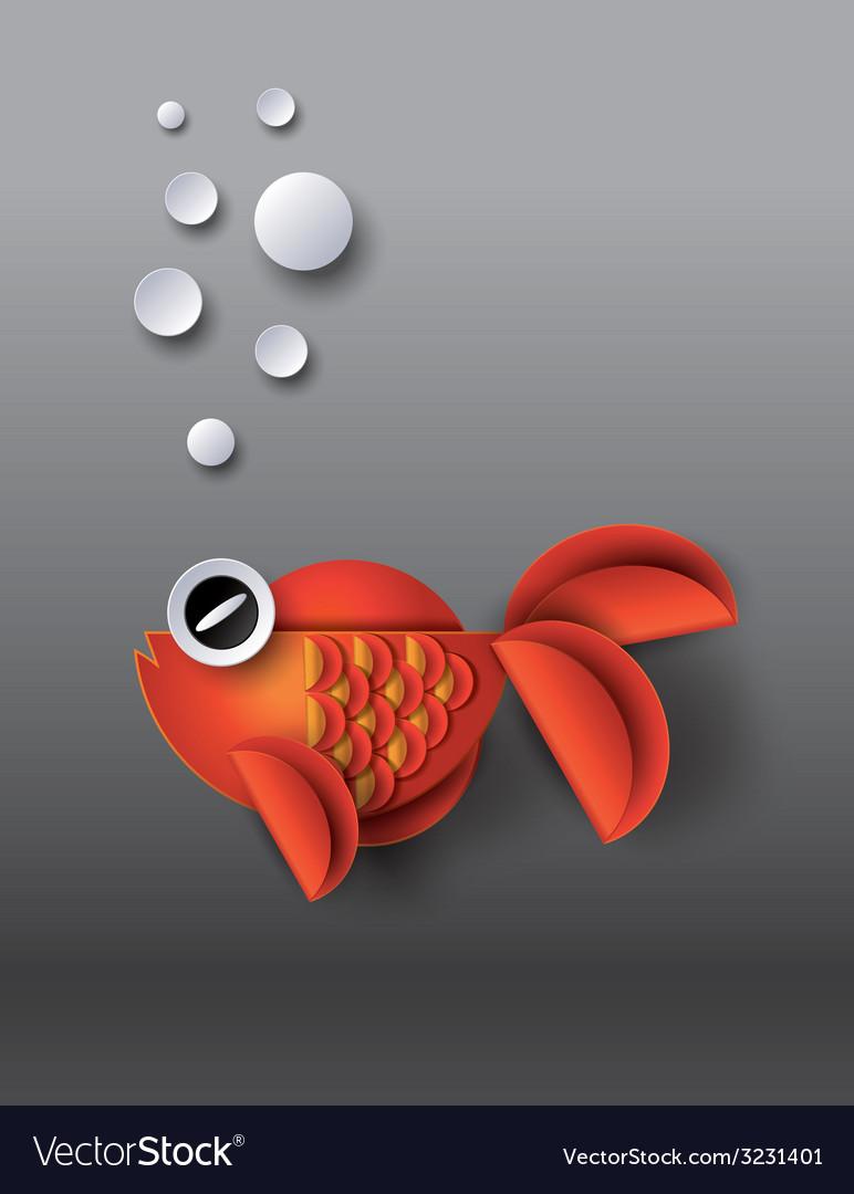 Gold fish vector | Price: 1 Credit (USD $1)