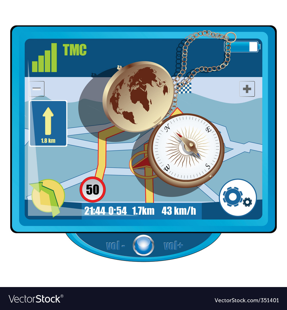 Gps and compass vector | Price: 3 Credit (USD $3)
