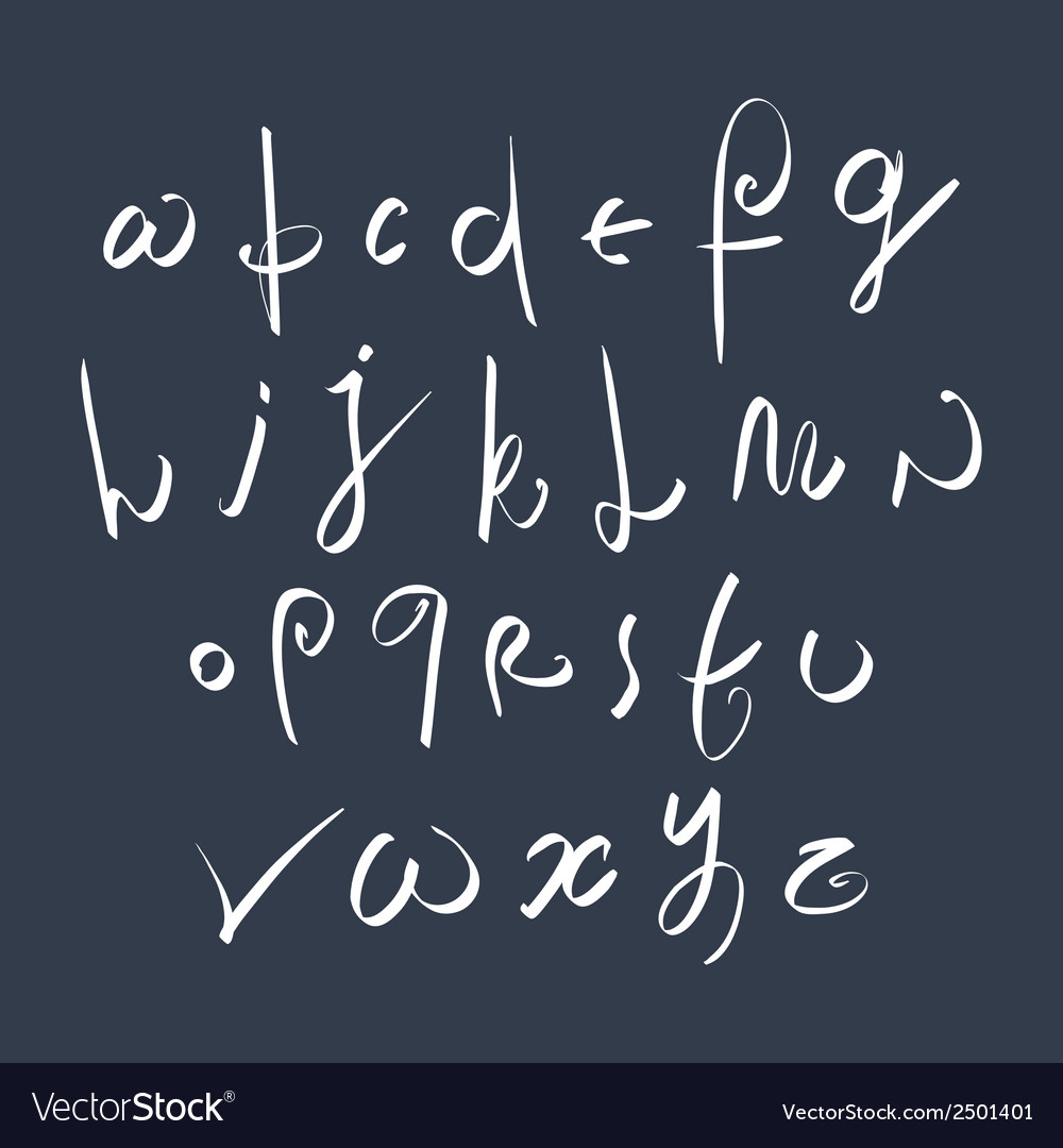 Hand written fresh font stylish drawn alphabet vector | Price: 1 Credit (USD $1)