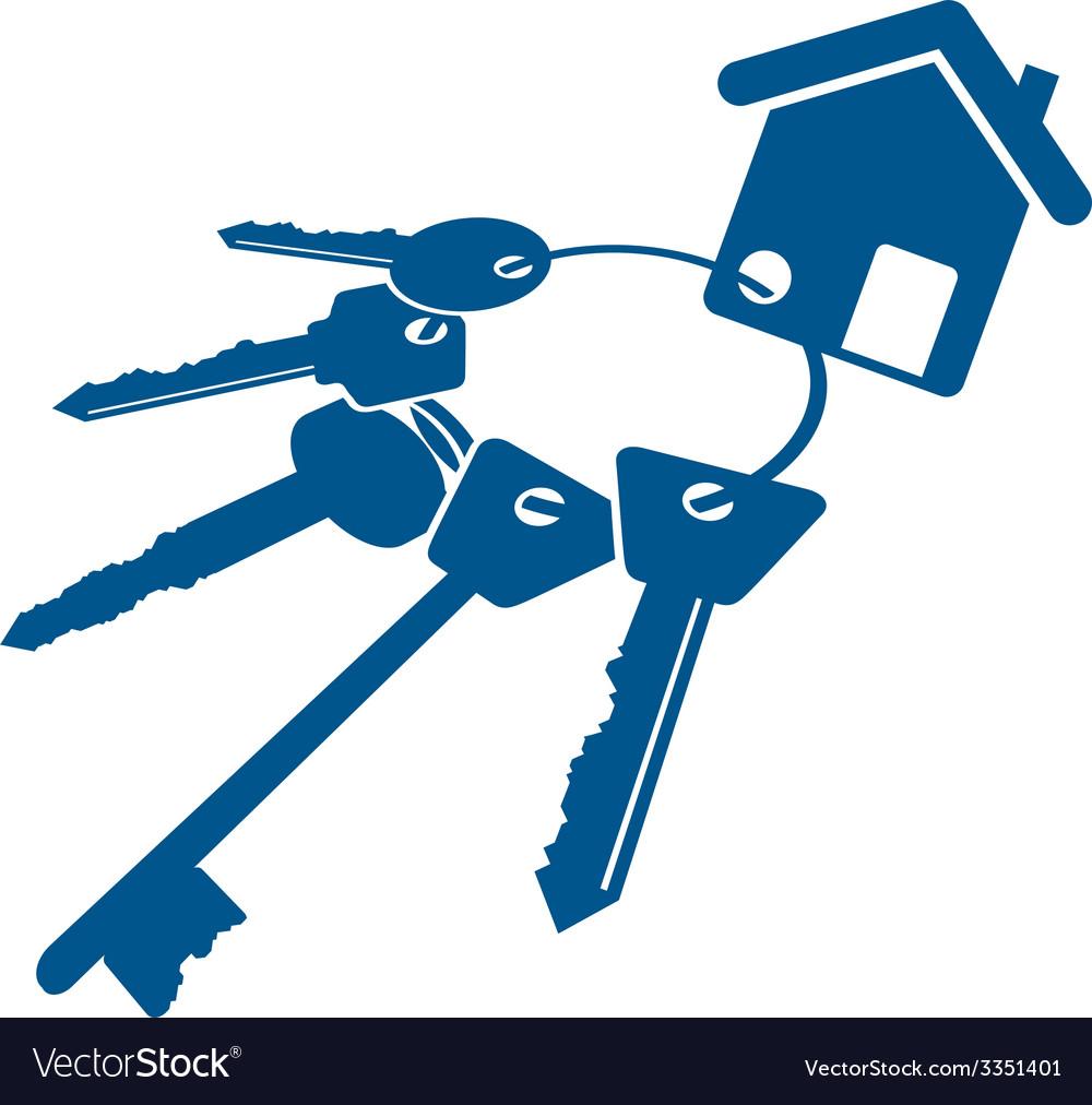 House keys bunch vector   Price: 1 Credit (USD $1)