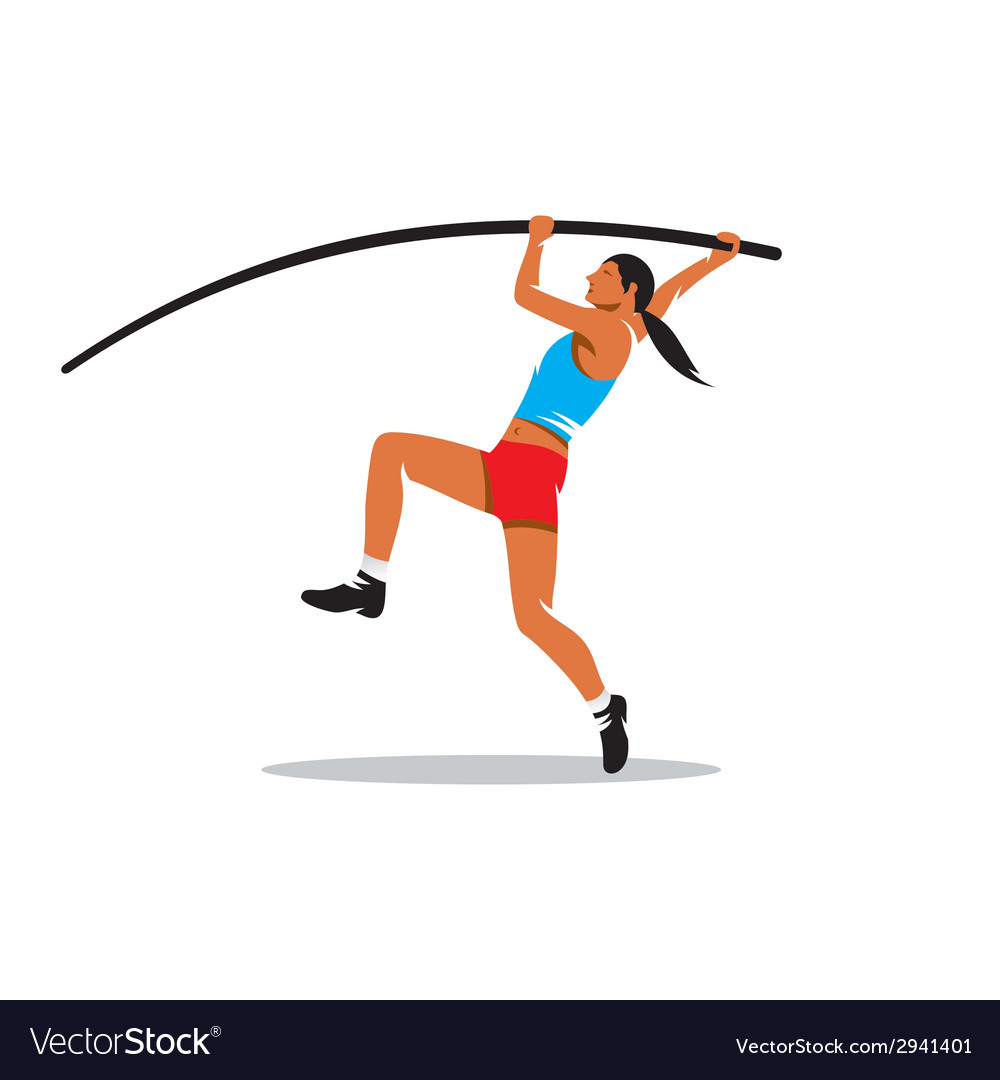Pole vaulting sign vector | Price: 1 Credit (USD $1)