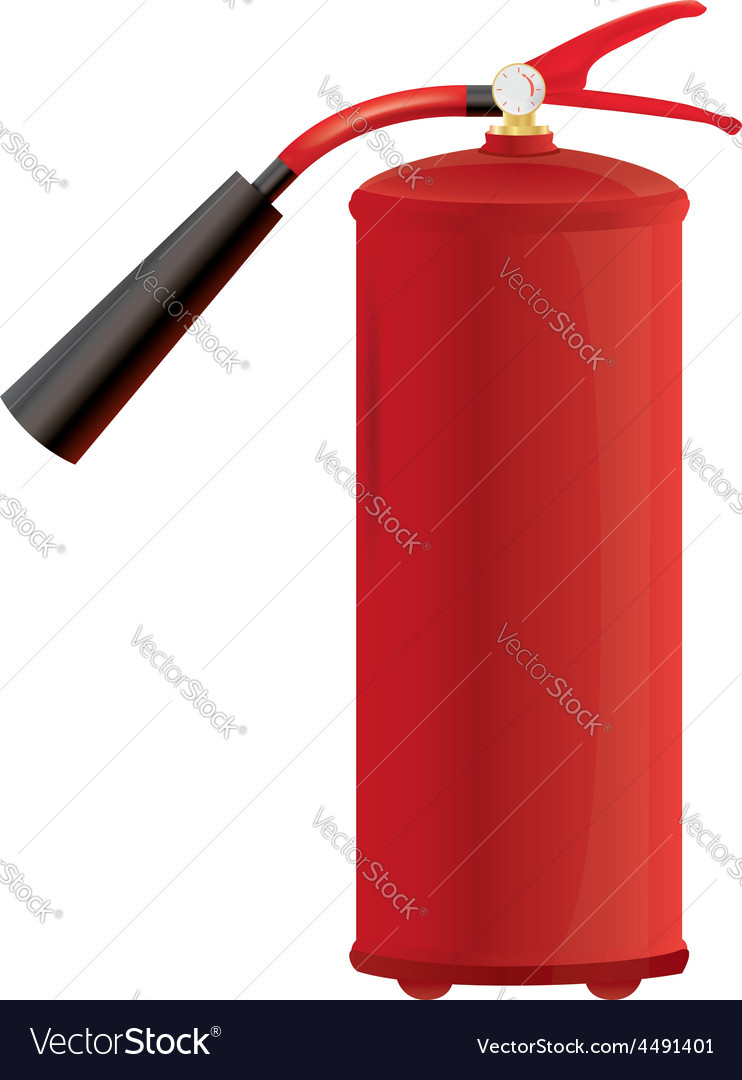 Red fire extinguisher vector | Price: 1 Credit (USD $1)