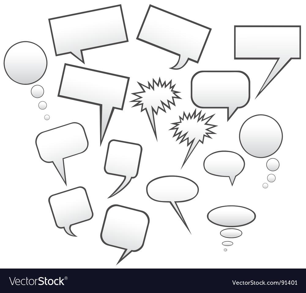 Speech symbols vector | Price: 1 Credit (USD $1)