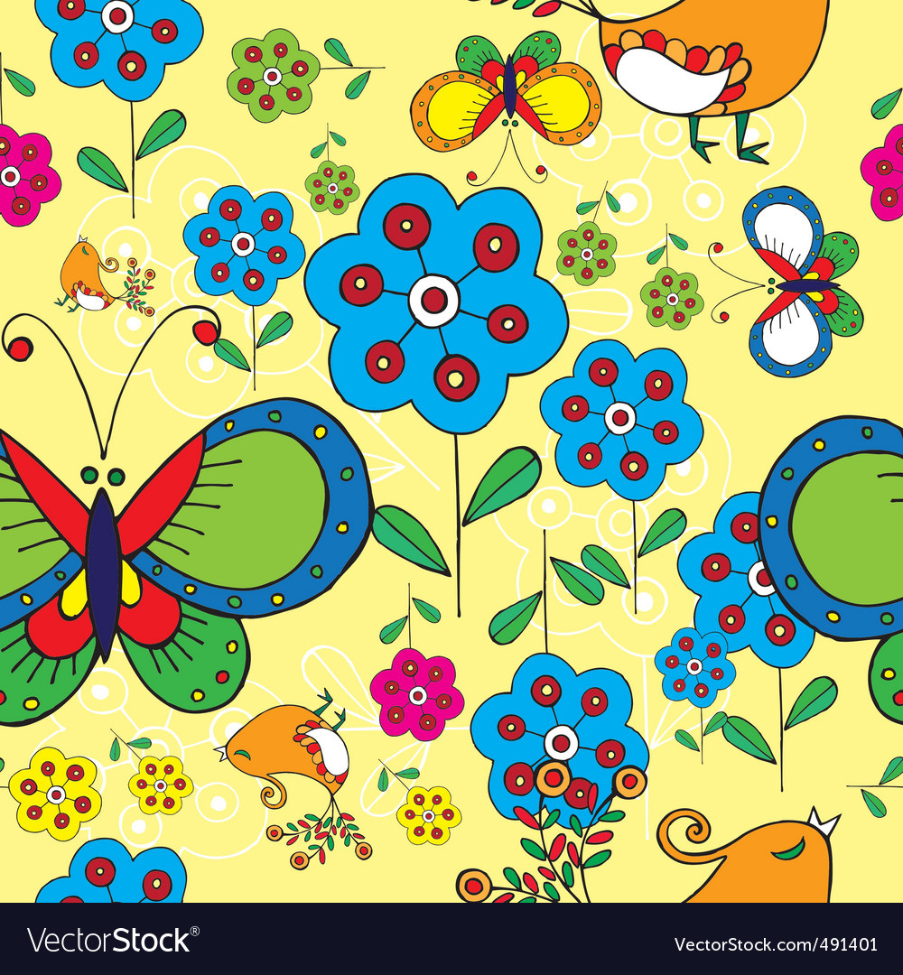Spring floral print vector | Price: 1 Credit (USD $1)
